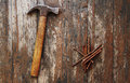 Old Rusty Nails And Hammer Stock Photo - 30336580