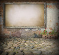 Old Board On Stone Wall Stock Image - 30337651