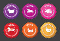 Meat Labels With Cartoon Animals Royalty Free Stock Image - 30339306