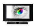 TV Showing A Color Eye. Royalty Free Stock Photo - 30346495