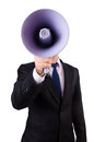 Young Businessman With Loudspeaker Stock Photos - 30347003