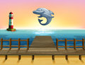 A Big Fish At The Port Royalty Free Stock Images - 30350019