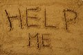 Help Me In The Sand Royalty Free Stock Images - 30360629