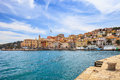 Porto Santo Stefano Seafront And Village Skyline. Argentario, Tuscany, Italy Royalty Free Stock Image - 30362056