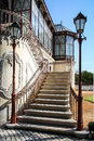 Stairs With Two Vintage Lamp Poles Stock Images - 30362604