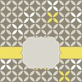 Retro White Beige Yellow Leaves With Gray Blank La Royalty Free Stock Photography - 30369547