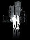 Man And Woman Walking In The City2 Royalty Free Stock Image - 30375226