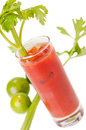 Bloody Mary Cocktail With Lime And Celery Royalty Free Stock Photography - 30387697