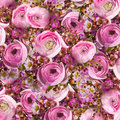 Gentle Bouquet From Pink Roses And Small Royalty Free Stock Images - 30413379