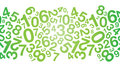 Abstract Green Number Background Stock Photography - 30414832