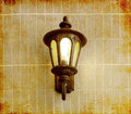 Vintage Street Lamp On Brick Wall, In Old Image Style Stock Image - 30422321