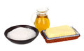 Butter With Salt And Oil Stock Images - 30427684