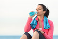 Fitness Woman Drinking Royalty Free Stock Photography - 30430687