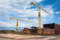 Ship And Monumental Crane In The Shipyard Royalty Free Stock Photography - 30432277