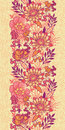 Fall Flowers Vertical Seamless Pattern Background Stock Photos - 30433813