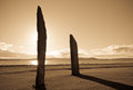 Standing Stones At Sunset Stock Image - 30442651