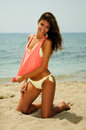 Woman With Beautiful Body On A Tropical Beach Stock Images - 30455124
