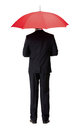 Back View Of Man In Suit With Umbrella Stock Image - 30457231