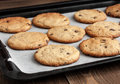 Freshly Baked Chocolate Chip Cookies Stock Photos - 30462573