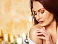 Woman Relaxing At Home Bath. Royalty Free Stock Photos - 30465398