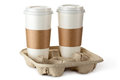 Two Take-out Coffee In Holder Stock Photo - 30467270