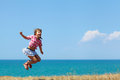 Girl In A Jump Stock Photography - 30468652