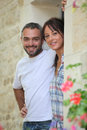 Couple In A Doorway Royalty Free Stock Image - 30471046