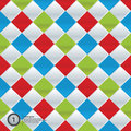 Vector Colorfully Mosaic. Simple Pattern In Four Trendy Colors. Royalty Free Stock Photography - 30471367