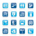 Airport, Travel And Transportation Icons Royalty Free Stock Images - 30474969