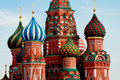 Moscow. Red Square. Saint Basil Cathedral. Royalty Free Stock Photography - 30481847