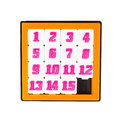 Pocket Sliding Fifteen Puzzle Game In Orange Color Frame Royalty Free Stock Photography - 30486697