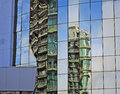 Reflections In A Modern Building Royalty Free Stock Image - 30487516