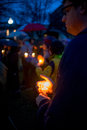 Vigil For Newtown Shooting Victims. Royalty Free Stock Photo - 30489905