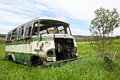 Abandoned Old Bus Royalty Free Stock Photography - 30490667