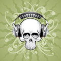 Skull With Headphones Royalty Free Stock Image - 3056136