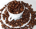 Coffee Beans In A Cup Stock Photos - 3059263