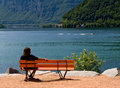 Woman Siting In The Bench Stock Photo - 3059310