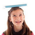 Girl Balancing A Book On Her Head Stock Photo - 30500480