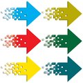 Multi-colored Arrows To Indicate. Stock Photography - 30509982