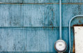 Smart Grid Power Supply Meter On Grungy Blue Wall Royalty Free Stock Images - 30514659
