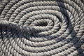 Round White Rope On Ship Stock Images - 30516694