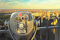 Coin Operated Binoculars, Top Of The Rock (New York City) Stock Images - 30517504