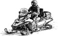 Snowmobile Royalty Free Stock Photos - 30524658