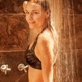 Young Lady Take Shower Royalty Free Stock Photos - 30530168