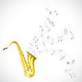 Music Tune From Saxophone Royalty Free Stock Photo - 30533545