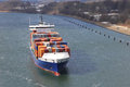 Container Ship On Kiel Canal Stock Image - 30538541