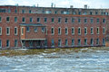 Factory In Rising Flood Waters Stock Photography - 30541512