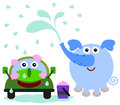 Elephant Car Wash Royalty Free Stock Image - 30544236