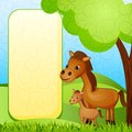 Mother And Baby Horse Stock Image - 30548551