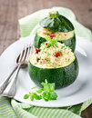 Zucchinis The Stuffed Couscous Stock Image - 30548741